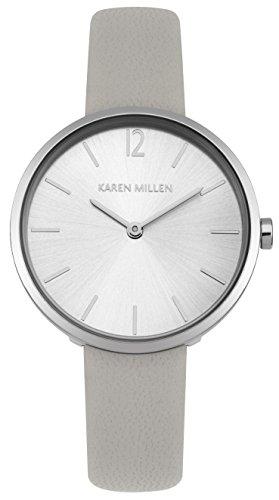 Karen Millen Women's Quartz Metal and Leather Casual Watch, Color:Silver-Toned (Model: - Millen Shop Karen