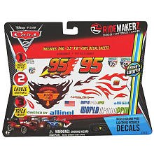 RideMakerz Cars 2 WORLD GRAND PRIX LIGHTNING MCQUEEN decals/