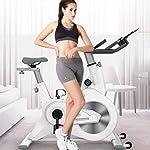 LJMG-Spin-Bike-Fitness-Club-Indoor-Cyclette-Ciclismo-Spin-Bike-Cardio-Allenamento-Ciclismo-Regolabile-Rotazione-Magnetica-Bici-da-Spinning-Silent-Home-Bikes-Color-Bianca-Size-116-53-117cm