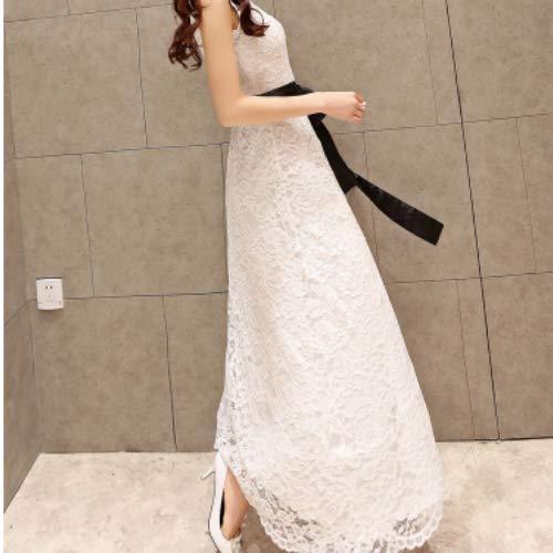 『ヴォーグ』VOGUE (0063-3) ホワイト ロング ドレス 清楚系 セクシー レース キャバドレス 白 M L