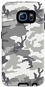 Stylizedd Samsung Galaxy S6 Premium Dual Layer Tough Case Cover Matte Finish - Artic Camo