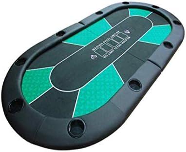 MGIZLJJ Poker Plegable portátil de Mesa Oval Acolchada Plegable 2 ...