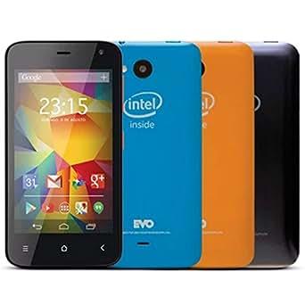 "Smartphone Qbex Intel Evo Preto, Tela 4.0"", 8GB, Câm. 5MP, Android 5.1 - 3G"