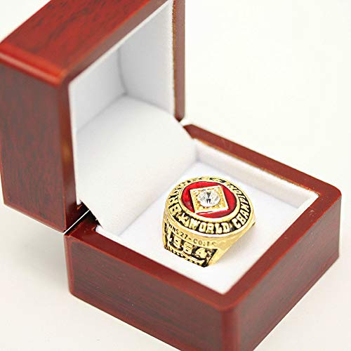 RongJ- store 1964 Jim Brown Cleveland Browns Championship Ring Size 11 Cherrywood Display case