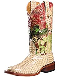 Johnny Ringo Womens Square Toe Western Boots Gavial Croco Porcelain 628-06C
