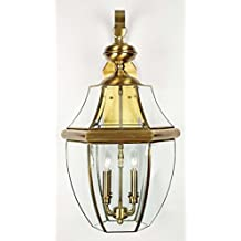 Quoizel NY8339A Newbury Outdoor Lantern, 4-Light, 240 Total Watts (29H x 16W Inches) Antique Brass