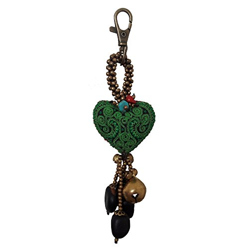 Green-Heart-Cute-Bag-Accessory-Decoration-Keyring-Keychain-Lovely-Gift-Xmas-Christmas