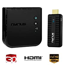 Nyrius ARIES Pro Wireless HDMI Transmitter & Receiver to Stream HD 1080p 3D Video From Laptop, PC, Cable, Netflix, YouTube, PS4, Xbox One, Drones, Pro Camera, to HDTV/Projector/Monitor (NPCS600)