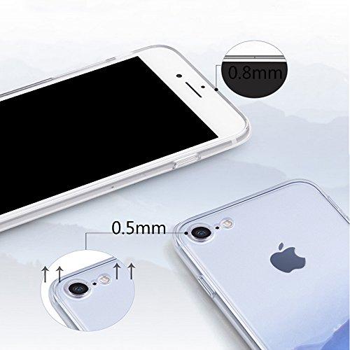 iPhone 6 Plus Custodia, iPhone 6S Plus Cover (5.5) ,Bonice Morbido Ultra Slim Soft TPU Paesaggio Scenario Case + 1x Protezione Dello Schermo Screen Protector , lago