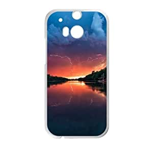 Sunset Landscapes HTC One M8 Cell Phone Case White DIY TOY xxy002_864026