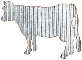 Corrugated Metal Cow Wall Farmhouse Or Farm Decor Amazon Ca Home Kitchen