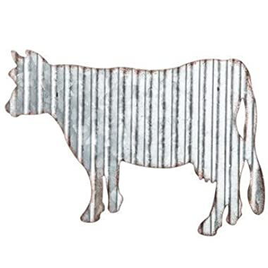 Corrugated Metal Cow Wall Farmhouse or Farm Decor