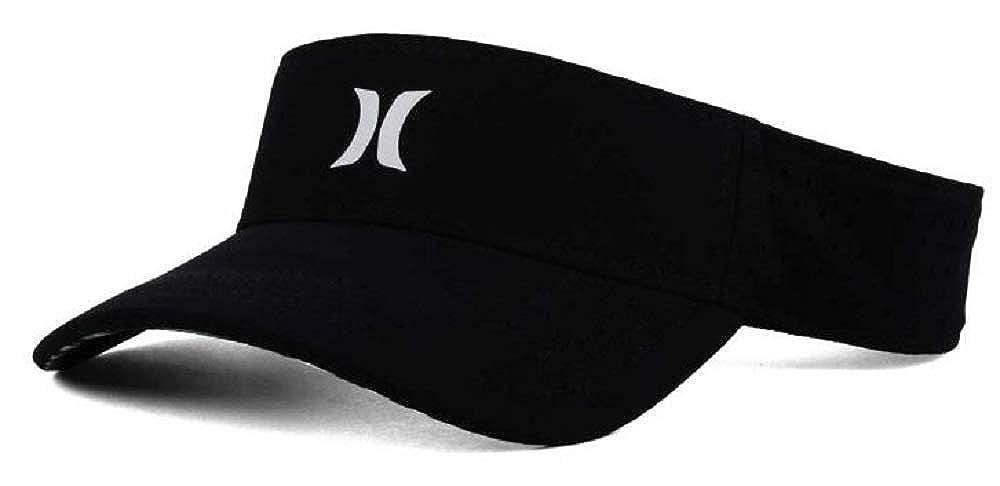 Hurley Mens Black and White Polyester Visor Strapback Cap Hat
