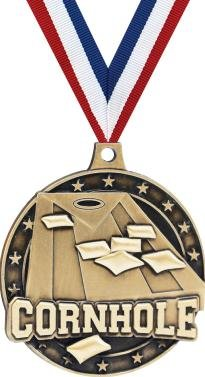 Cornhole Medals - 2'' And 50 Per Pack-Great For Field Games, Field Day, Family Reunions, BBQ, Tailgating by Crown Awards