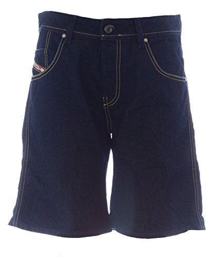 Diesel Women's X-Slator Knee-Length Denim Shorts #00C78H Dark Wash Sz 30 New