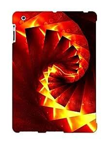 Premium Durable Lava Spiral Fashion Tpu Ipad 2/3/4 Protective Case Cover