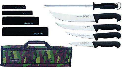 Messermeister Field Dressing Kit in 8-Pocket Knife Roll, Camouflage ()