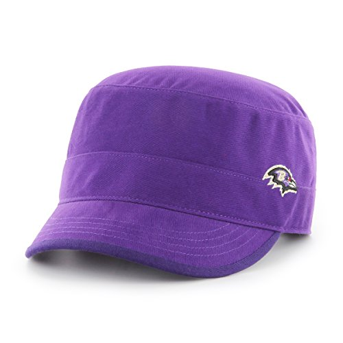 NFL Baltimore Ravens Women's Shipmate OTS Cadet Military-Style Adjustable Hat, Purple, Women's