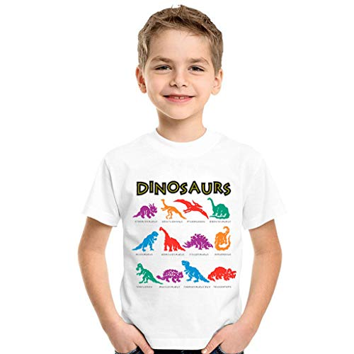 (3M-7T,Baby Boy Clothes Toddler Summer Casual Button-Down Shirts Dinosaur Tops Yamally)