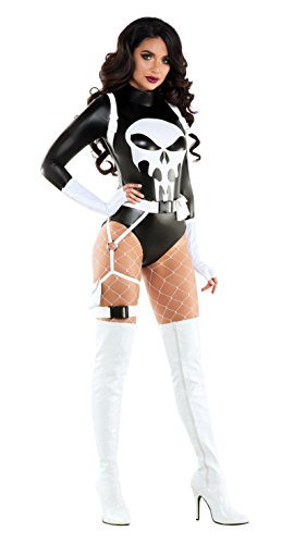 Punisher Costume (Starline Women's the Punishing One, As Shown, Small)