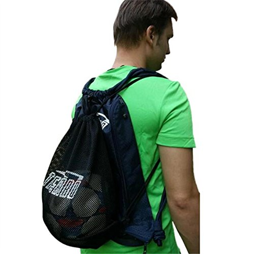 Tigerbro Unisex Drawstring Sports Backpack Gym Bag with Mesh Sack for Basketball Soccer Rugby Rackets Helmet – DiZiSports Store