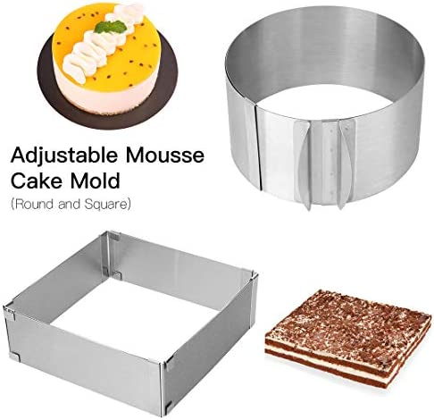 Adjustable 2 piece Mousse Stainless Square product image