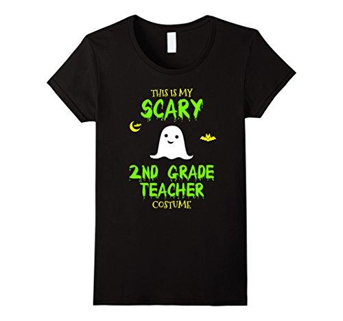 Teacher Halloween Costumes Ideas (Womens Scary 2nd Second Grade Teacher Costume Halloween T-Shirt Large Black)