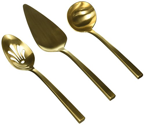 Wedgwood 3 Piece Polished Serving Set, Gold