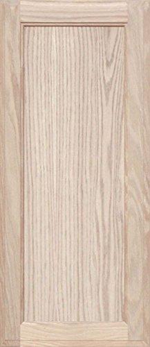 Unfinished Oak Square Flat Panel Cabinet Door by Kendor, 30H x 13W (Flat Panel Cabinet Doors)