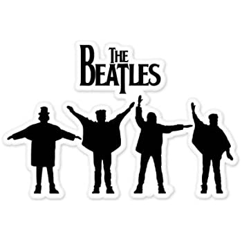 amazon com the beatles silhouette vynil car sticker decal select
