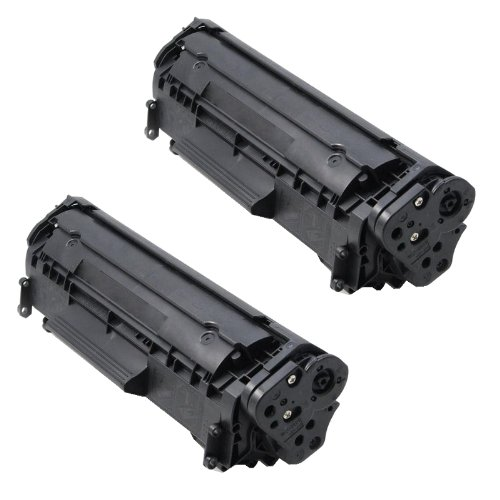 (2 Pack) HP Q2612A Compatible Black Toner Cartridge, Office Central