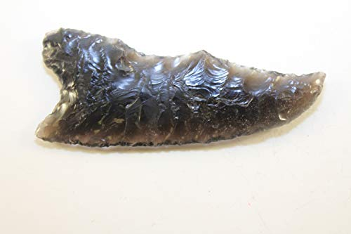 """3-3/4"""" Banded Obsidian Flint Knapped/Knapping Pressure Flaked Mayan Eccentric Ceremonial Point Inspired Knife Blade/Dagger Gem Point"""