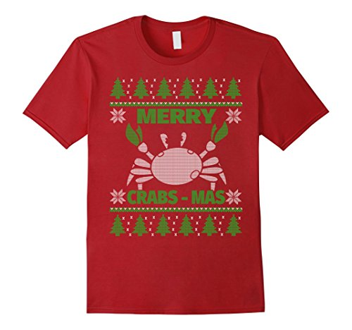 Mens Funny Christmas Crab Shirt - Merry Crabsmas T-Shirt XL (Funny Crab)