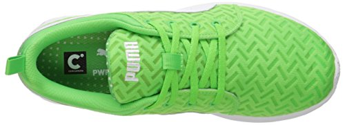 Puma Mens Carson Coureur Pwr Cool Lace-up Mode Sneaker Fluorescent Vert / Blanc