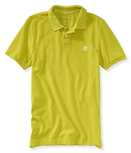 Aeropostale Mens A87 Uniform Rugby Polo Shirt, Green, ()