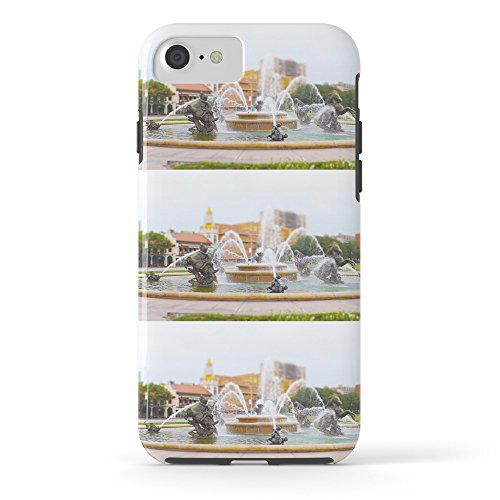 Society6 JC Nichols Horse Fountain Kansas City Country Club Plaza Tilt Shift Tough Case iPhone - Country Plaza