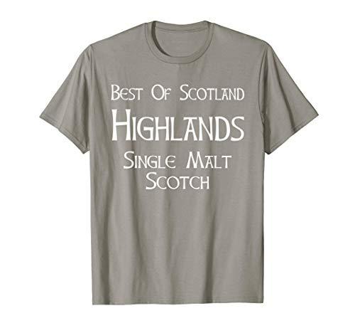 (Best Of Scotland Highlands Single Malt Scotch T-Shirt)