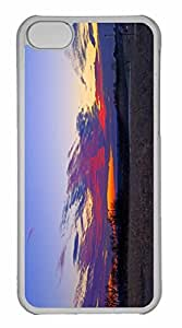 iPhone 5C Case, Personalized Custom Sunset Lawrence Kansas for iPhone 5C PC Clear Case by runtopwell