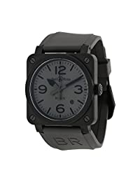 Bell and Ross Commando Grey Rubber Mens Watch R0392-COMMANDOCE