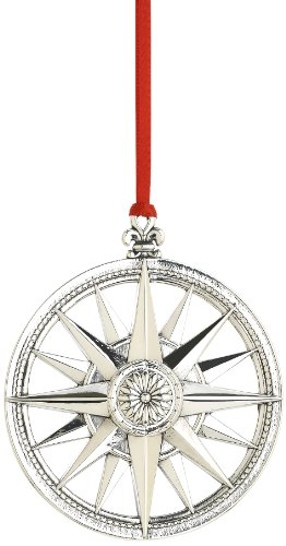 Reed Rosette (Reed & Barton Compass Rose Star Christmas Ornament, 3-3/8-Inch)