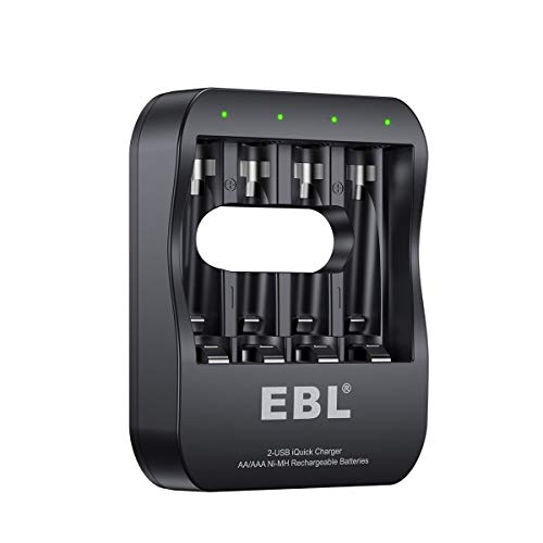 EBL Smart Individual Battery Charger with 2-Hour Super iQuic