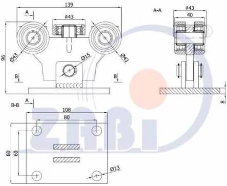 ZAB de S unidad carro (Código: W de 5 mm de perfil rollo de 50 ...