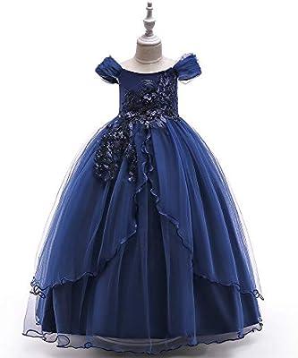 Vestido de niña de las flores de la boda de la muc Falda larga de ...