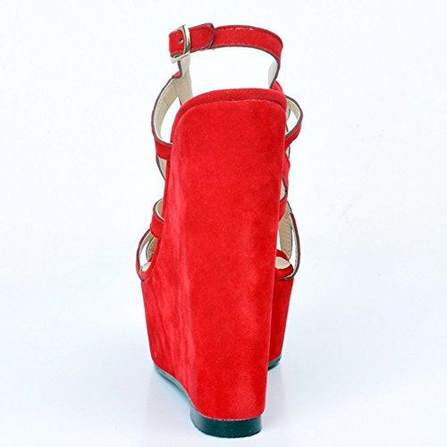 Kolnoo - Pantuflas de caña alta Mujer Reds