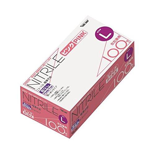 川西工業 ニトリル極薄手袋 粉なしピンクL ダイエット 健康 衛生用品 その他の衛生用品 14067381 [並行輸入品] B07GTW6R61