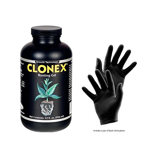 Clonex Rooting Gel Quart - Best Plant Root Hormone Gel - Useful to Make Roots Grow Faster and Stronger and in cloning Machines - Includes Gardening Gloves for Safe and Easy Rooting - by Hydro Empire