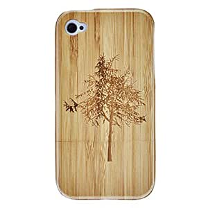 AES - Walnut Pattern Detachable Wooden Hard Case for iPhone4/4S