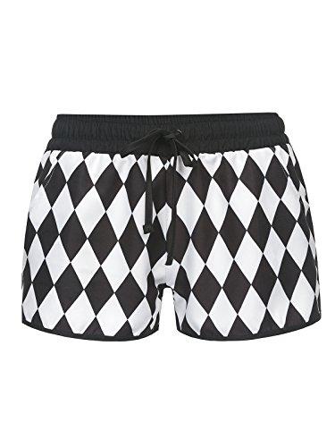 Pussy Deluxe Rhombus Shorts Badeshorts Schwarz/Weiß Schwarz