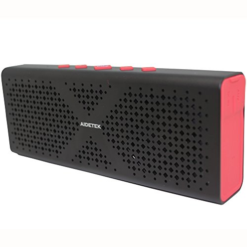 2016 New Ultra-Portable Aluminum Bluetooth Speaker AidetekBoxBluetooth 4.0 Wireless Speaker with 15 Hours Music Streaming Hands-Free Calling Built-in Mic, 10W Output Power with Enhanced Bass.