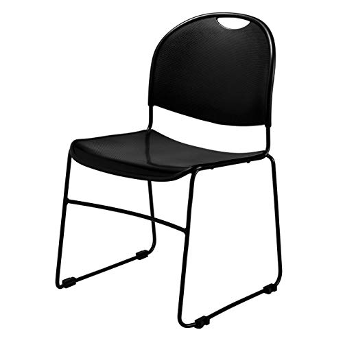 National Public Seating Commercialine Ultra-Compact Stack Chair Pack of 80 Blue